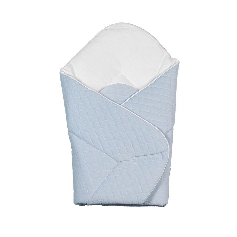 Gigoteuse d'emmaillotage - nid d'ange de naissance- Velvet collection - Bleu